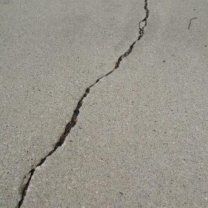 Crack on the floor